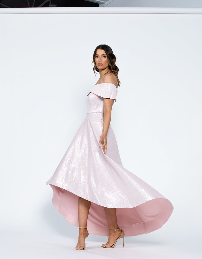 TAMIA OFF SHOULDER GOWN B42D55-HL