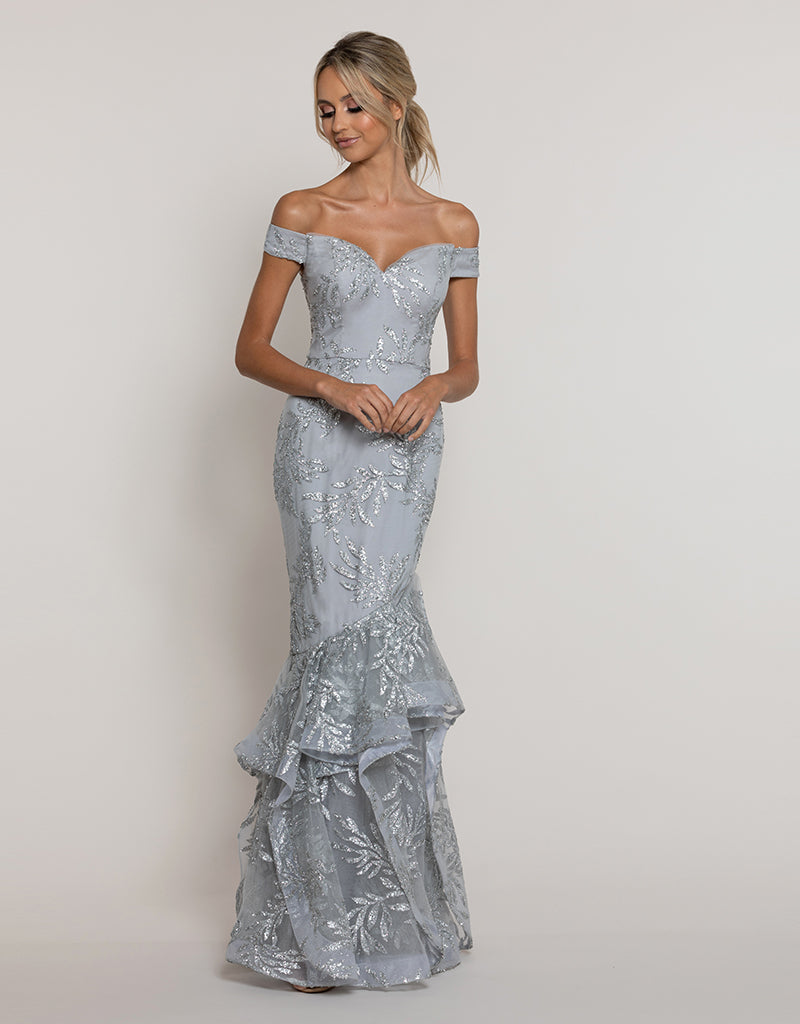 ANGELITE MERMAID GLITTER GOWN B43D18-L