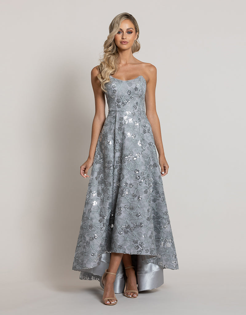 ALAIA STRAPLESS GOWN B44D02-HL