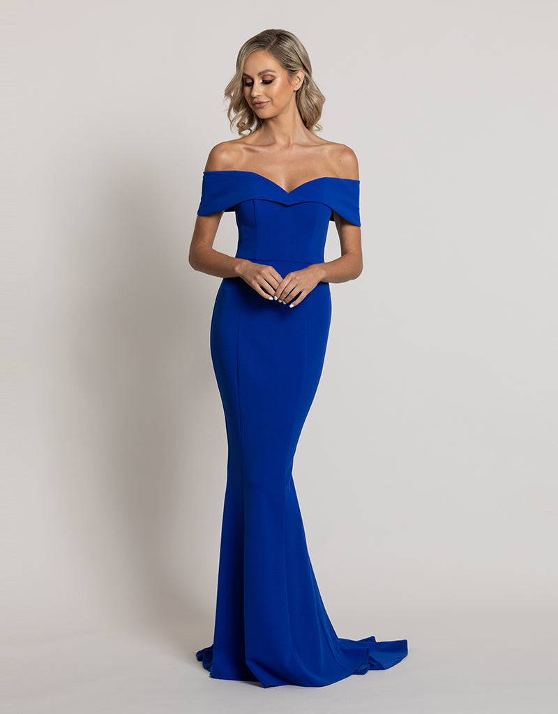 NAIDA OFF-SHOULDER GOWN B44D13-L
