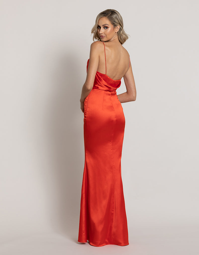 ANGEL COWL SATIN GOWN B44D25-L