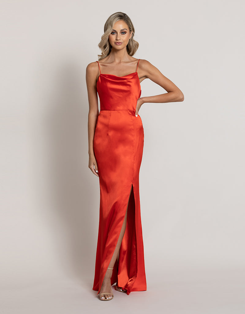 ANGEL COWL SATIN GOWN B44D25L