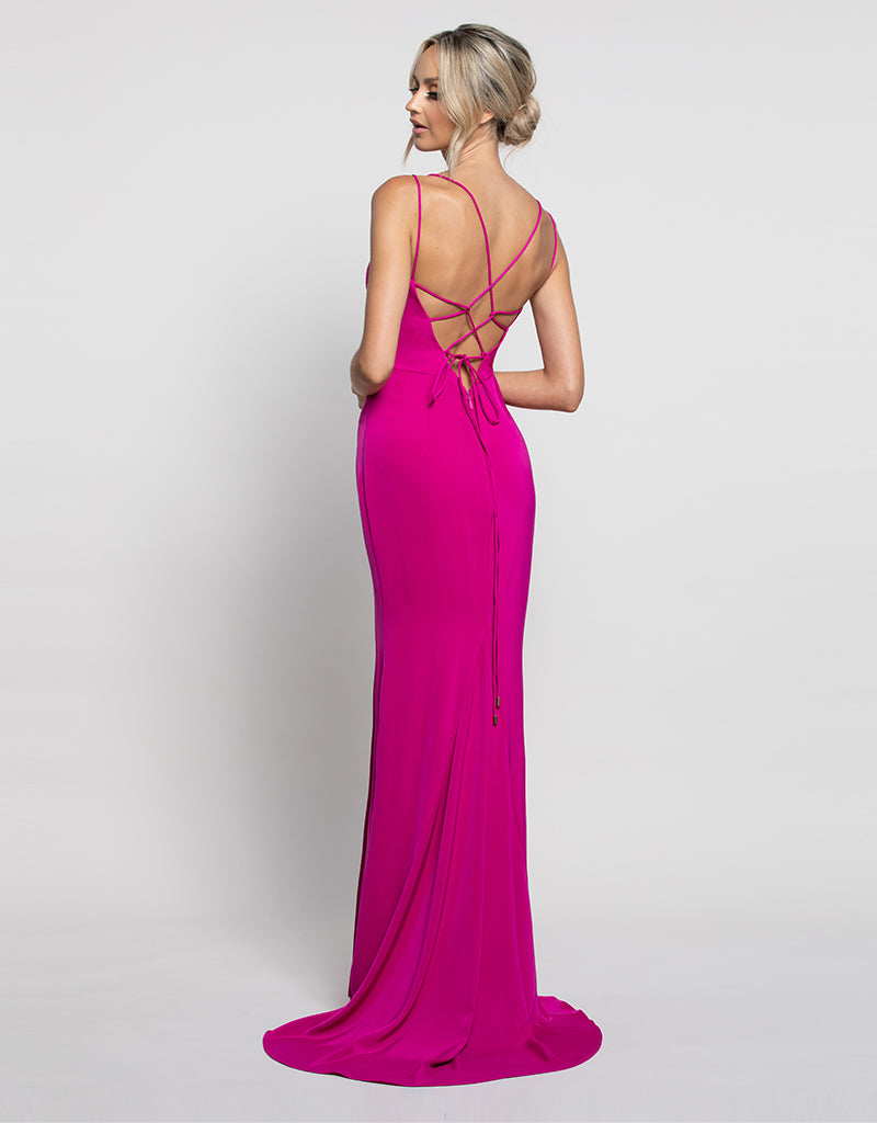 FLORENCE STRAPPY BACK GOWN B45D04-LT