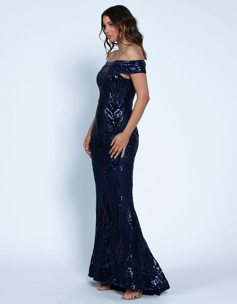HELENA OFF-SHOULDER GOWN B46D07LT
