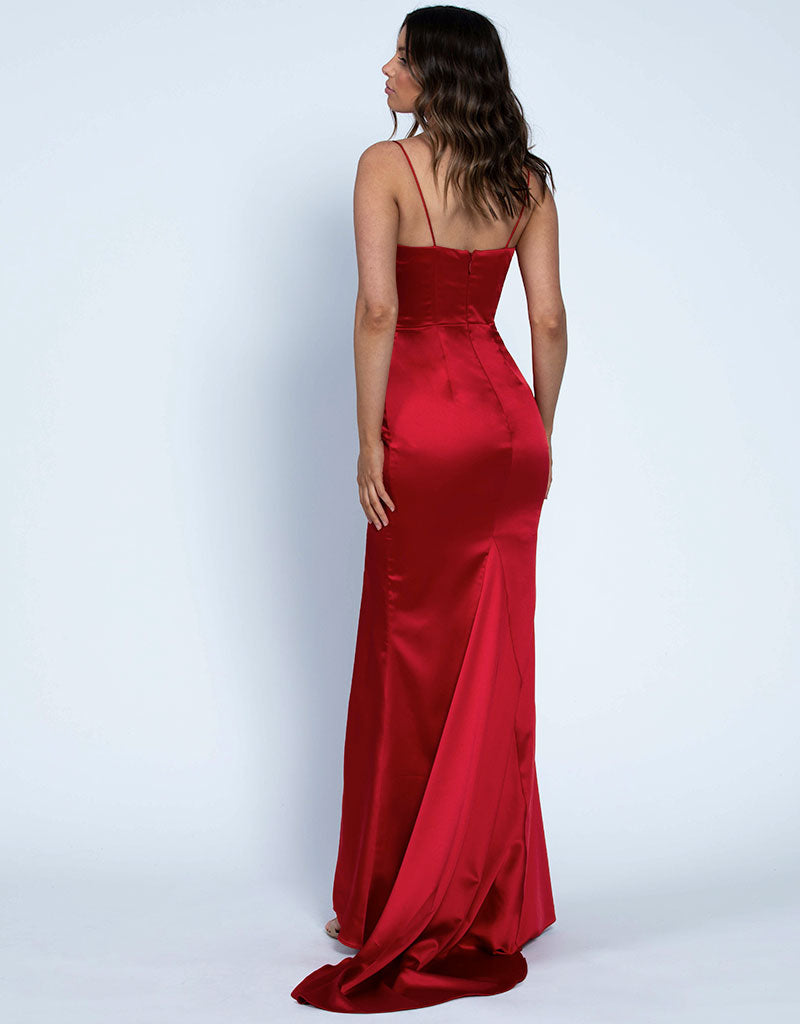 KENDALL CORSET SATIN GOWN B46D15L