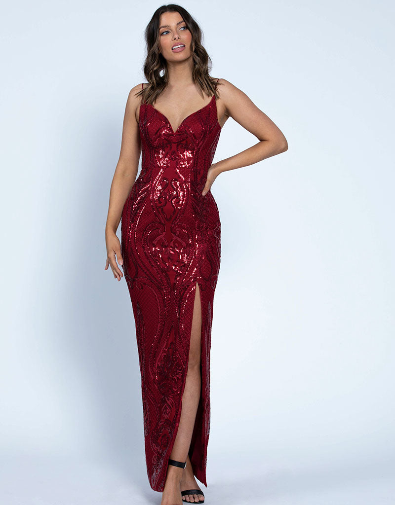 ARABELLA V-NECK GOWN B46D19L