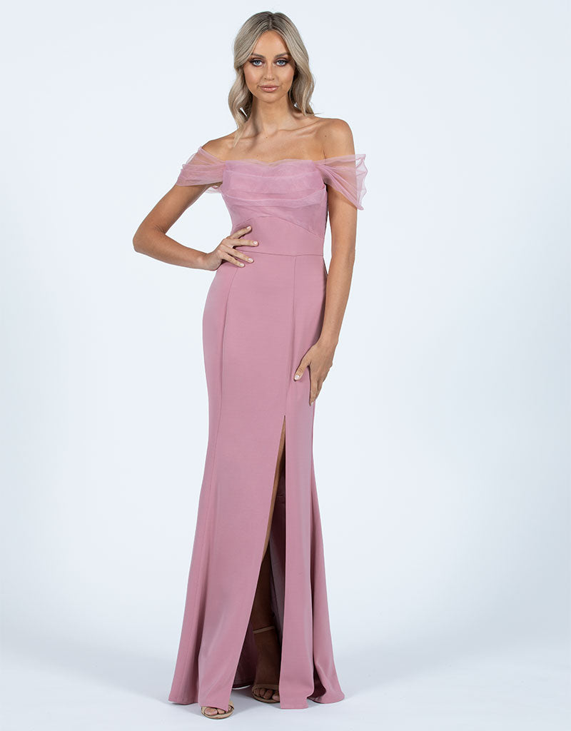 TANNI OFF SHOULDER GOWN B47D52L
