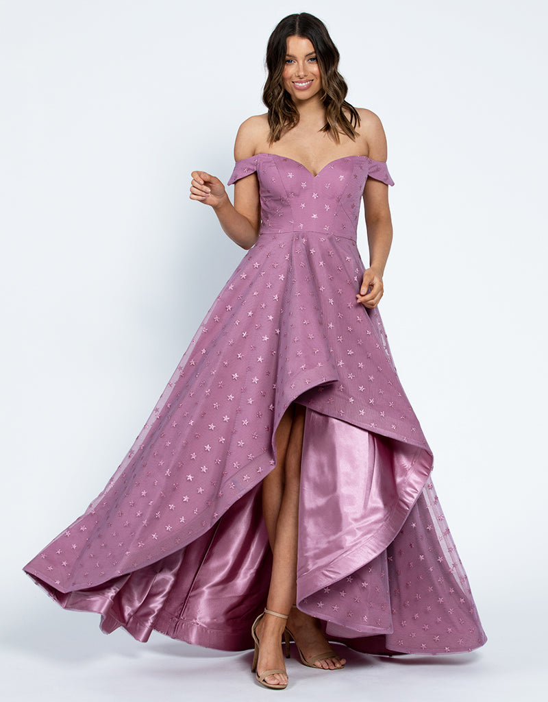 STAR IS BORN OFF SHOULDER GOWN BA0D06