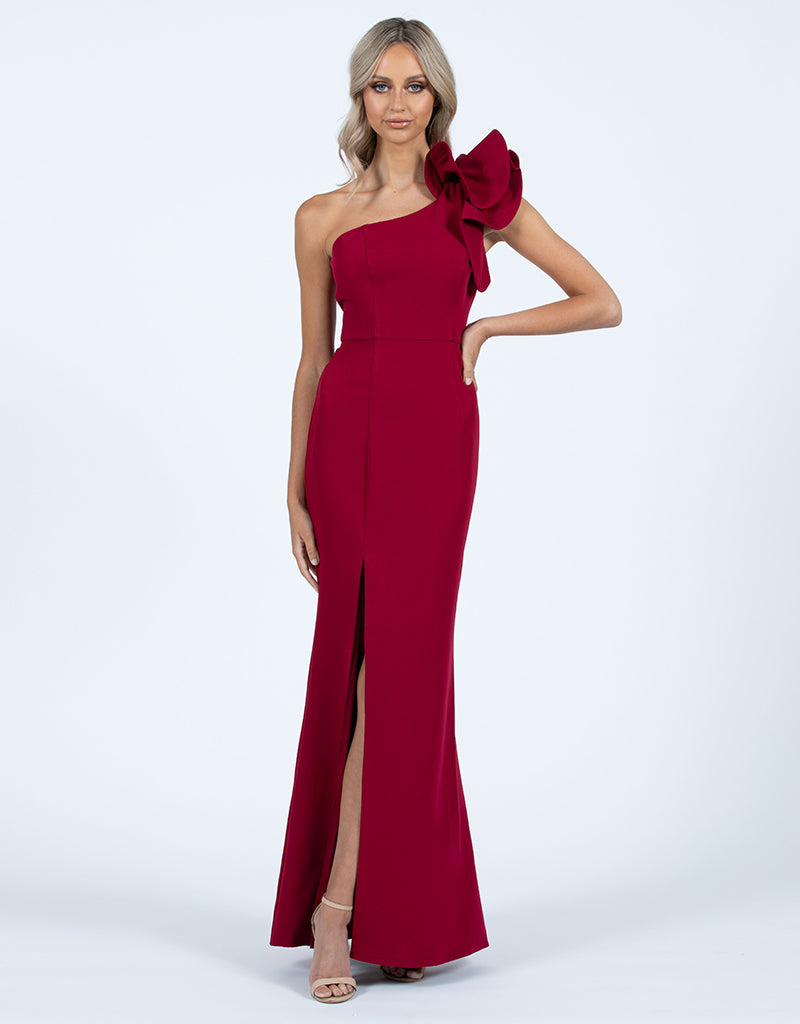 SUE FRILL SHOULDER GOWN BB33D31