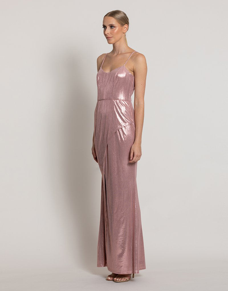 GEORGINA WRAP GOWN L44D59L
