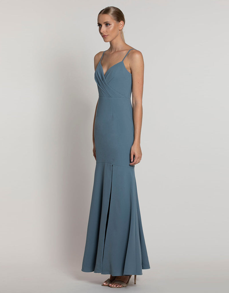 ENCHANTRA WRAP BODICE GOWN