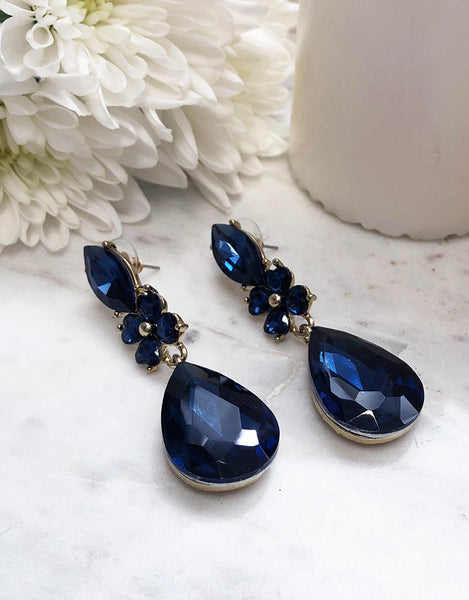 Waterfall Earrings JE815-COBALT