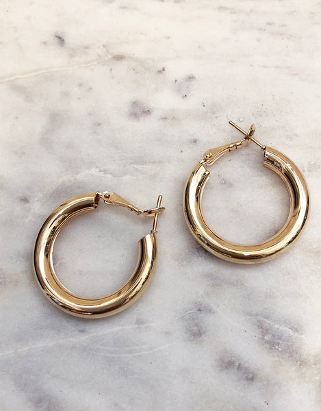 Sophie Hoop Earrings JE833-GO
