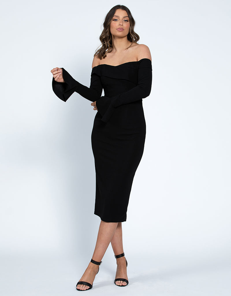ZANA OFF SHOULDER MIDI L42D26S