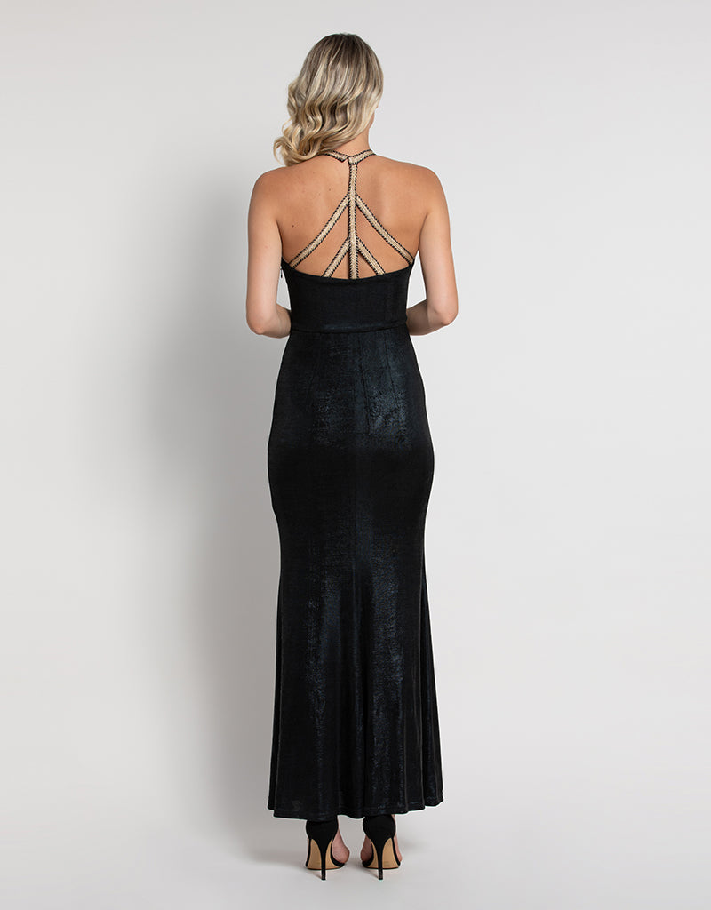 JUNIPER STRAPPY BACK GOWN L45D37L