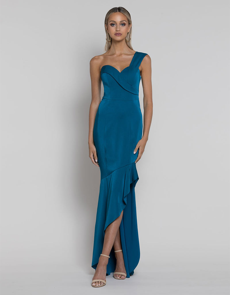 EMILY ASYMMETRIC HIGH LOW GOWN B38D12HL