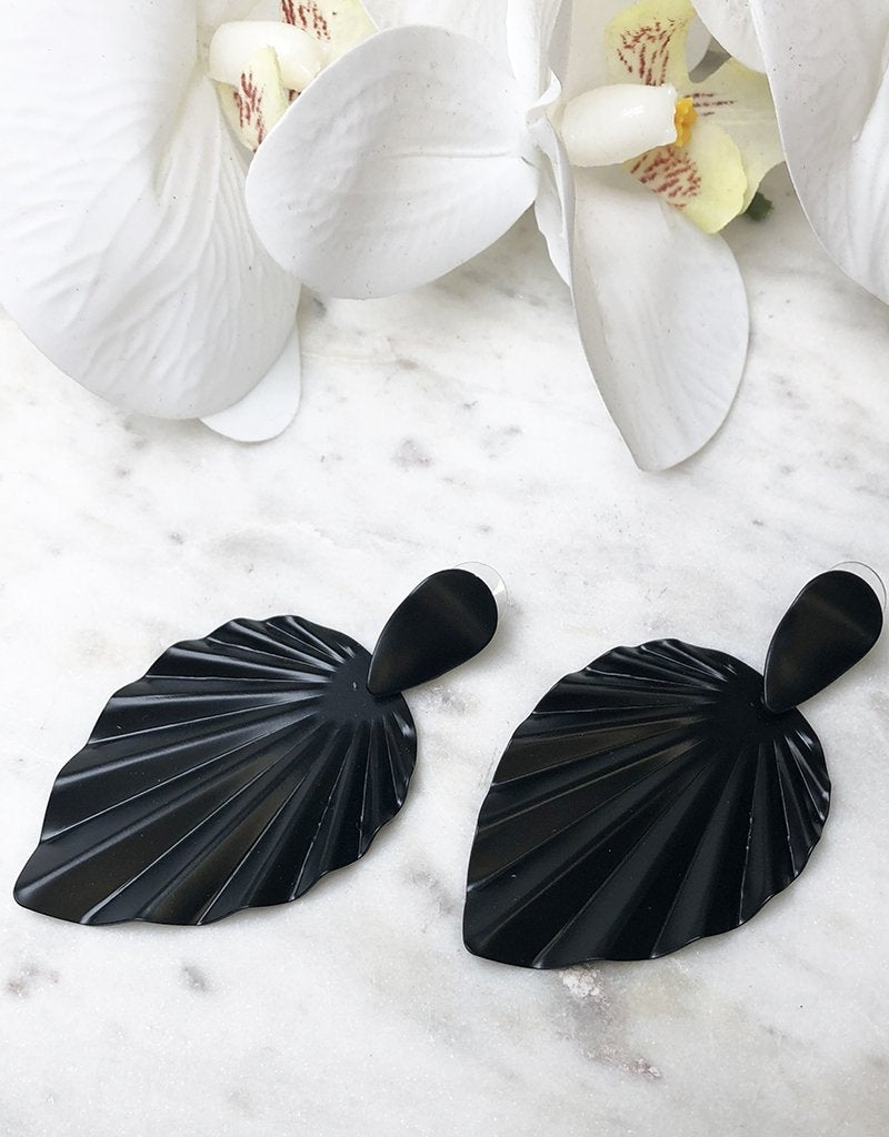 GRECIA EARRINGS JE909-Bariano-BLACK-One Size-Bariano