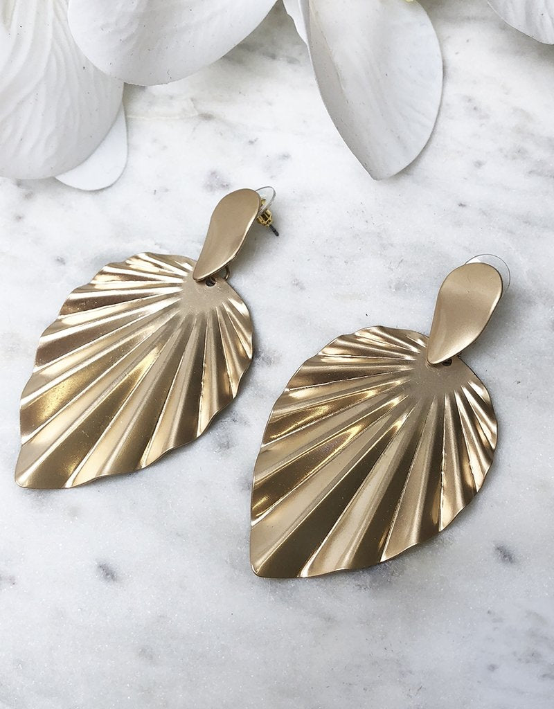 GRECIA EARRINGS JE909-Bariano-MATT GOLD-One Size-Bariano