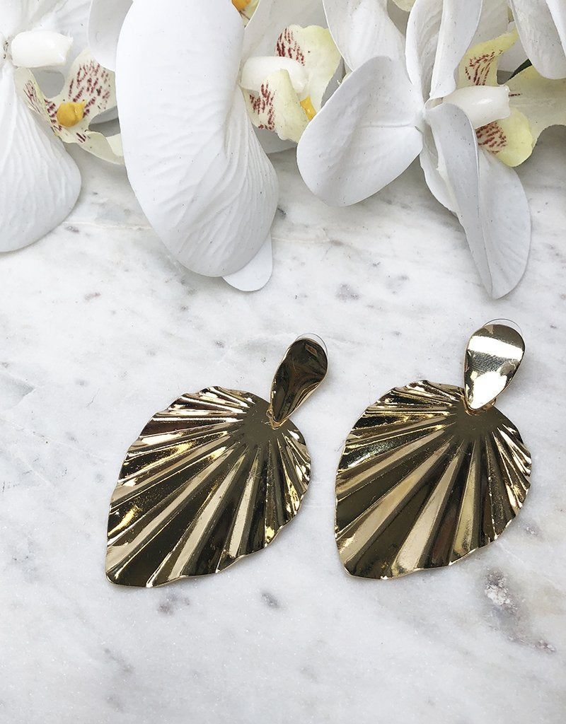 GRECIA EARRINGS JE909-Bariano-SHINY GOLD-One Size-Bariano