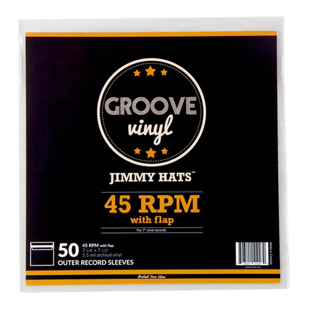 7 Inch (45 RPM) with Flap Premium Outer Record Sleeves - Groove Vinyl