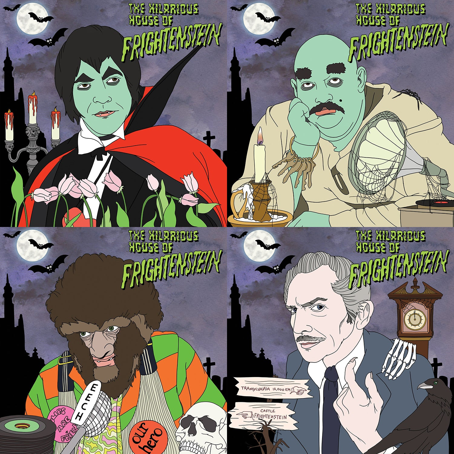 Frightenstein - All Four Albums Plus BONUS HHoF Record Tote - Groove Vinyl