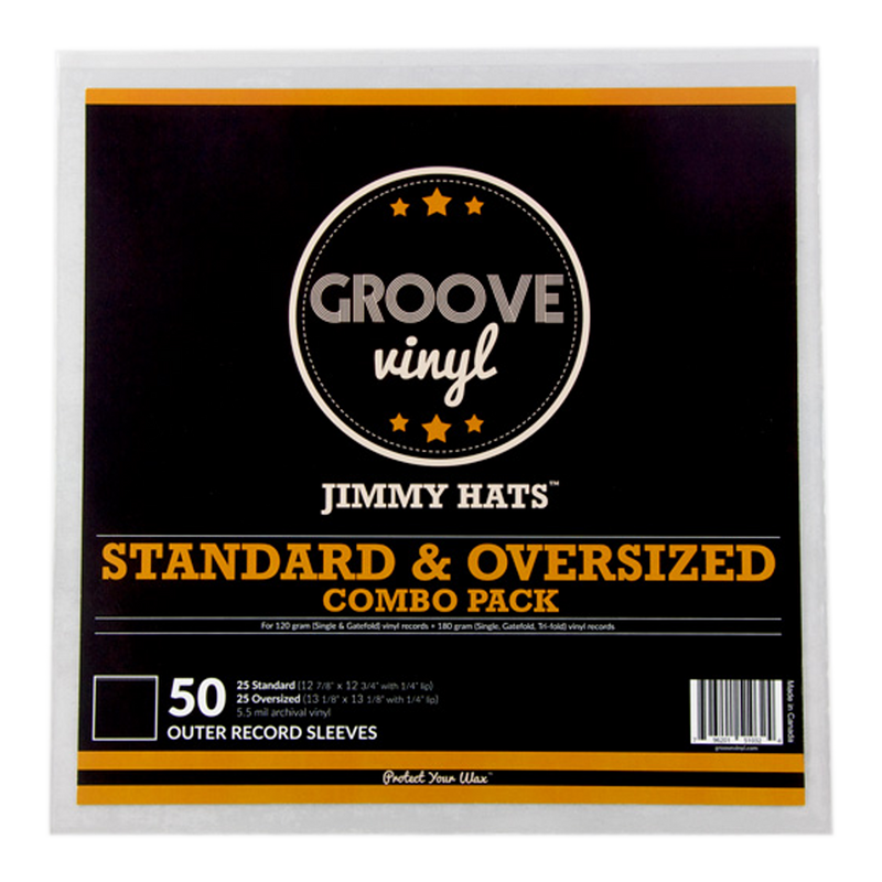 12 Inch Combo Pack Premium Outer Record Sleeves Groove