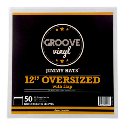 12 Inch Oversized with Flap Premium Outer Record Sleeves - Groove Vinyl