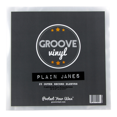 Plain Janes 12 Inch Outer Record Sleeves - Groove Vinyl