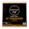 12 Inch Standard with Flap Premium Outer Record Sleeves - Groove Vinyl