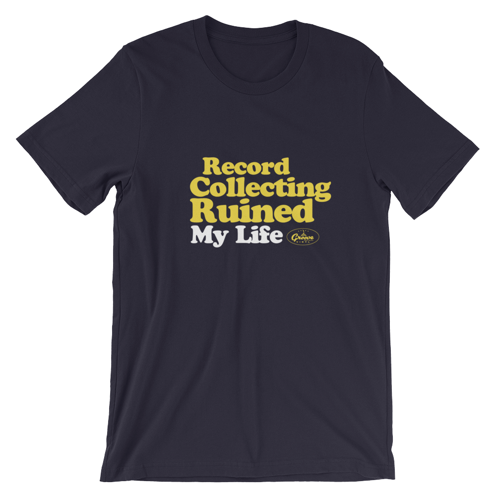 Groove Sounds Yellow Text T-Shirt - Groove Vinyl