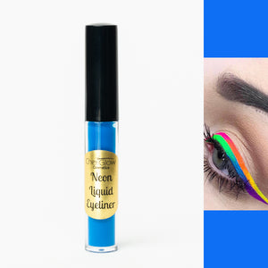 Neon Blue Liquid Eyeliner - Water-proof, Smudge-proof, Long-lasting