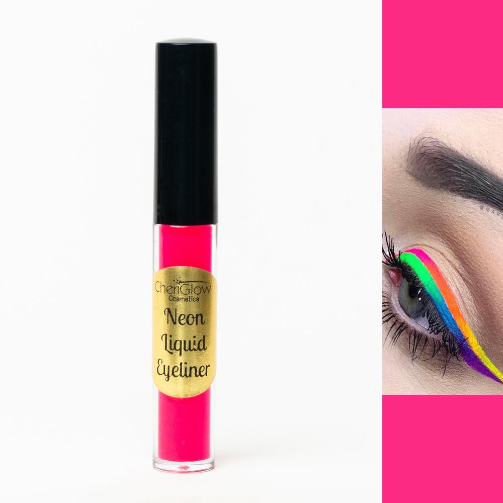 Neon Pink Liquid Eyeliner - Water-proof, Smudge-proof, Long-lasting