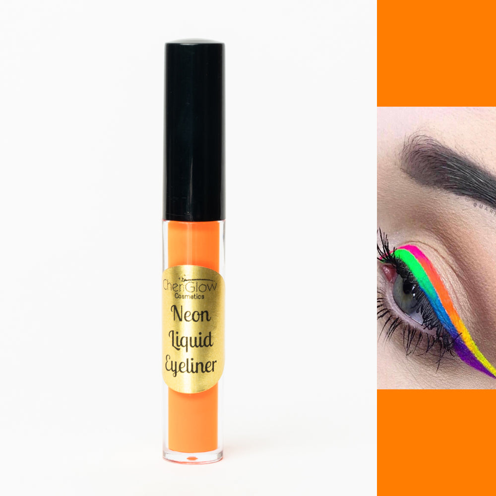 Neon Orange Liquid Eyeliner - Water-proof, Smudge-proof, Long-lasting
