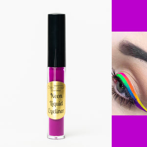 Neon Purple Liquid Eyeliner - Water-proof, Smudge-proof, Long-lasting