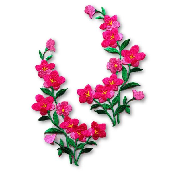 Gorgeous Pink Flowers - Set of 2
