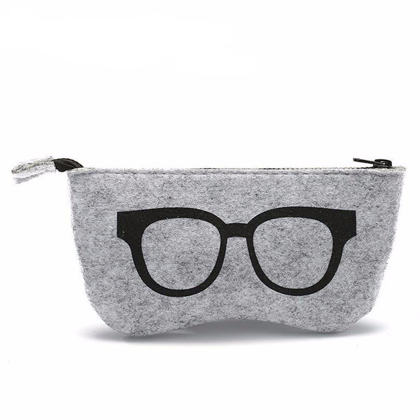 Felt Sunglasses Case - 5 Color Options