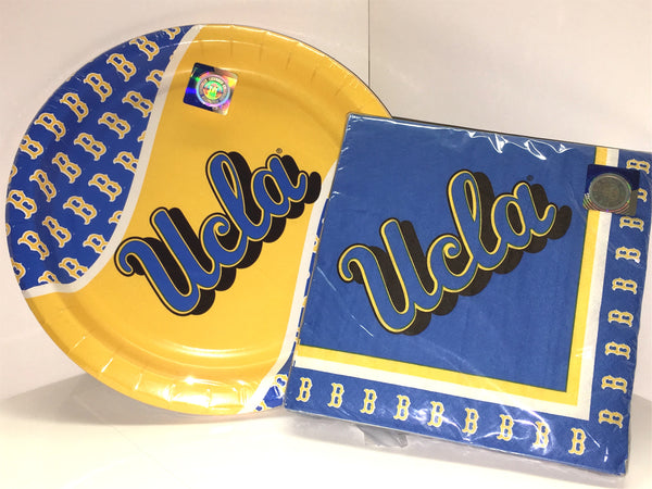 UCLA Bruins Party Plates and Napkins Sest