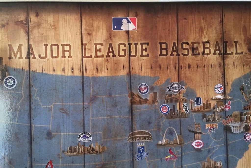 MLB Major League Baseball Map Showing teams from Dodgers ...