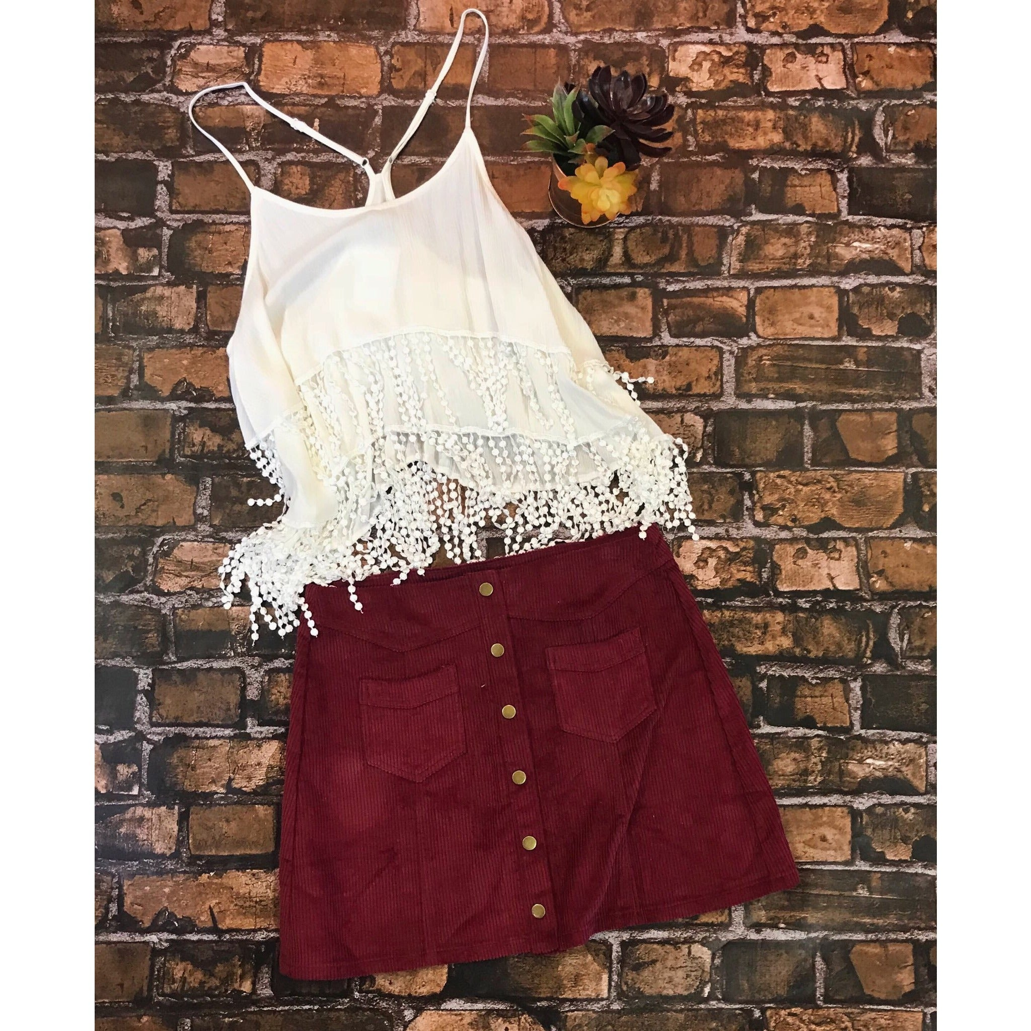 All About The Cord Mini Skirt