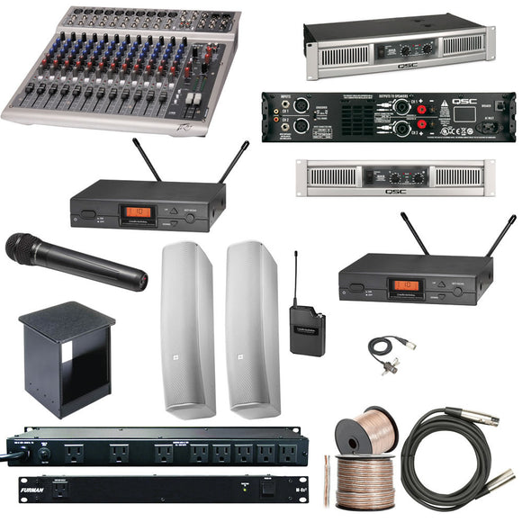 sound system kit. small church sound system - complete audio kit 125-150 seats n