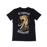 Criminal Damage Tiger Tee 'Black'