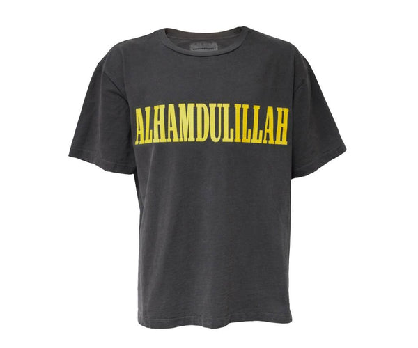 "Norwood Chapters ""ALHAMDULIAH""  Short Sleeve Shirt-Vintage Black"
