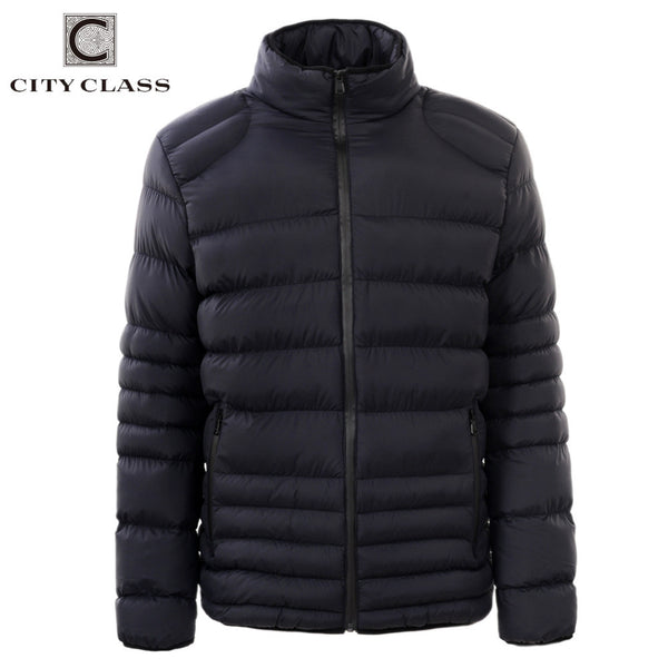 City Class 2017 New Winter Jacket Thick Warm Men's Overcoat Casual Cotton-padded No Hood Male Outerwear