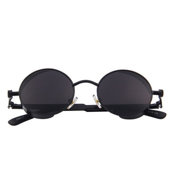 Gothic Steampunk Sunglasses Coating Mirrored Round Circle Retro Vintage