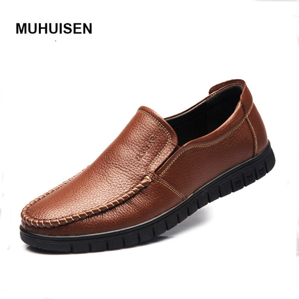 New Handmade Genuine Leather Men Flats Driving Soft Leather Men Moccasins Brand Men Shoes Loafers