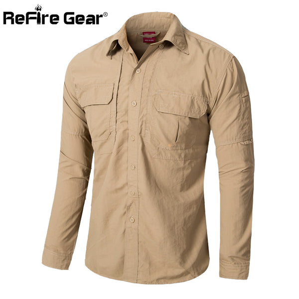 Tactical Shirt Quick Dry Army Cargo Military