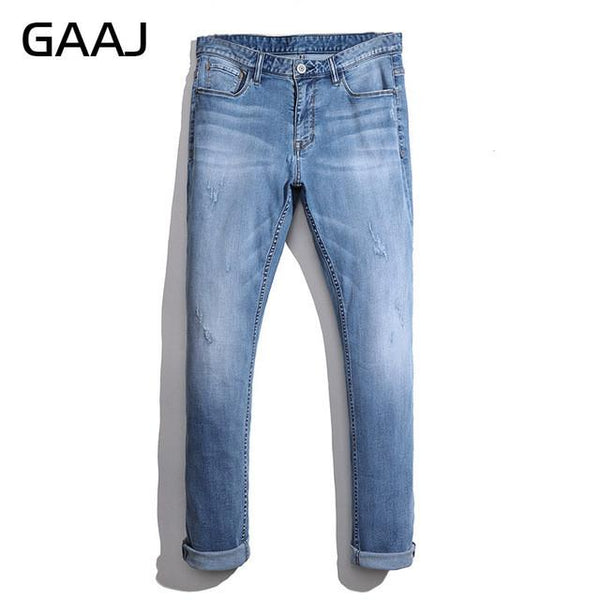 2017 Men Jeans New Spring Summer Fashion Brand Male Trousers Straight Biker Jean High Elastic