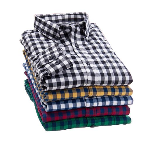 Plaid Shirt Warm Long Sleeve