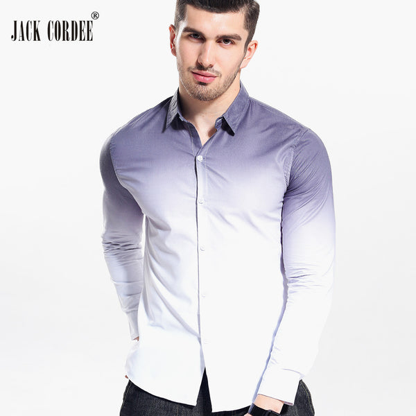 JACK CORDEE Shirt White Gradient Slim Fit