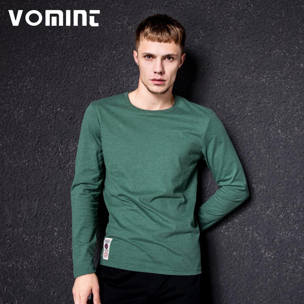 Long Sleeve T-shirt Cotton Multi Pure Color